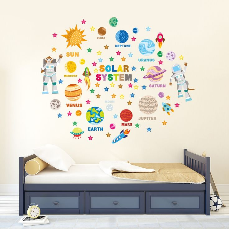 Solar system wall decals for kids rooms disney studio was founded back from the twenties and theyve consistently been a