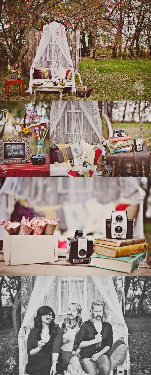 Gorgeous photo booth for a hen party