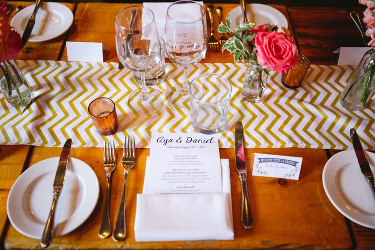 Dinner Set Up - Food Menu - Sweet and Simple http://www.fusion-events.ca/