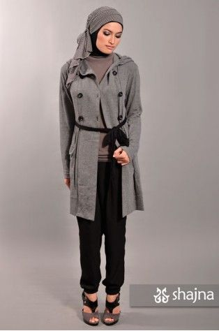 Love the hooded jersey coat!