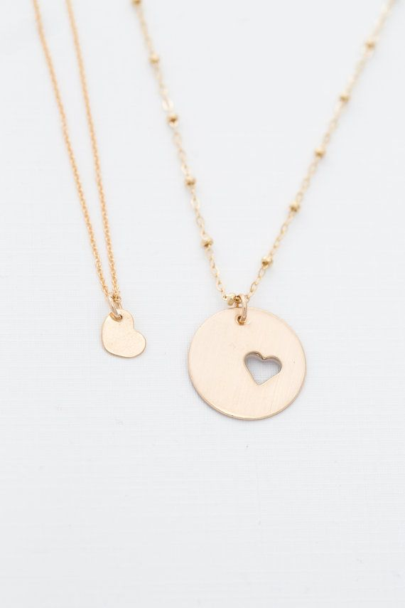 Mother Daughter Necklace Set GOLD // Inspirational by erinpelicano