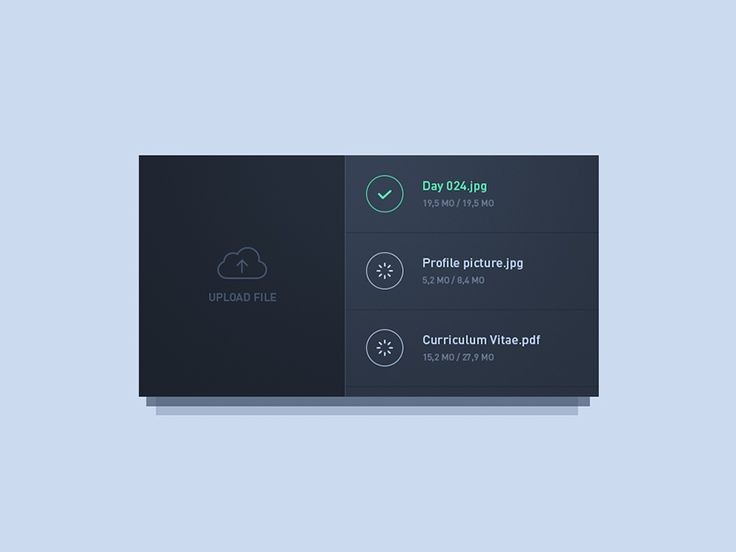 File Upload UI Inspiration — Muzli -Design Inspiration