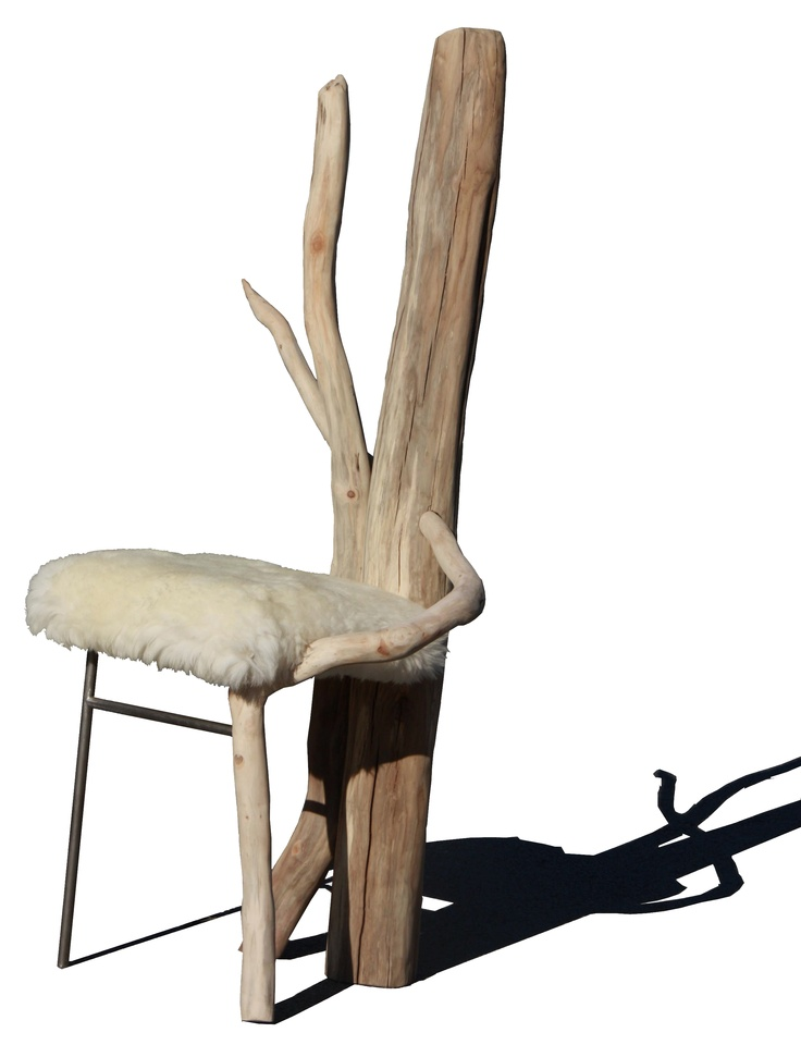 Chair out of driftwood from the beaches of southern Sweden.    2nd year chair project.   http://kimdeniseohrstrom.tumblr.com