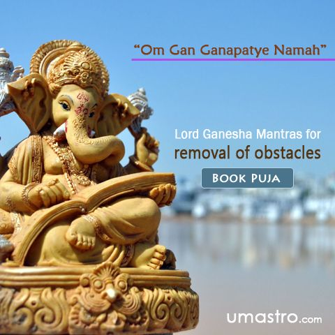 Mantras of Ganesha to remove Obstacles  Lord Ganesh is always venerated as the sole eliminator of obstacles from human life. He is believed to make things easier for his devotees with his characteristics and powers. Om gaṁ Gaṇapatayē namaha  You can chant this mantra before starting any endeavor like new job or career, any new business or contracts or any kind of deals, staring journey etc to remove the obstacle in the path and to reach the final end of success.    #Success ,  #wealth…