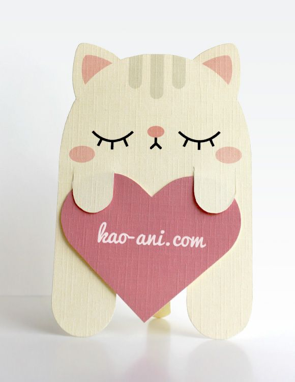 Cute Cat Card and Bookmark in one DIY