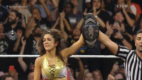 Bayley after winning the NXT Women's Championship.
