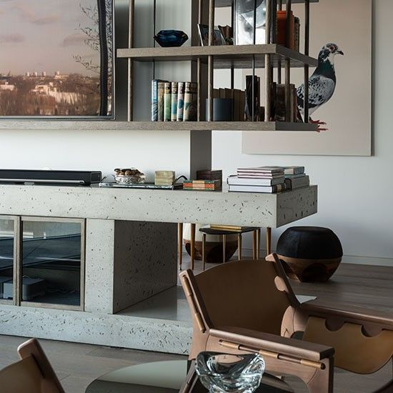 Elegant Modern Storage Cabinets for Living Room