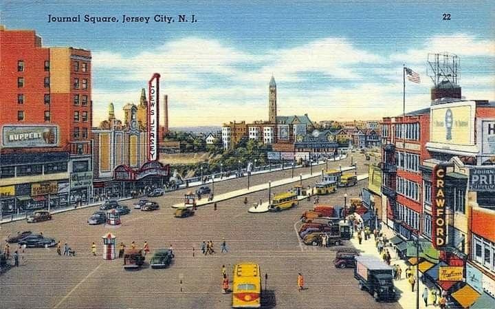 Journal Square Jersey City N J C 1949 Postcard Jersey City City New Jersey