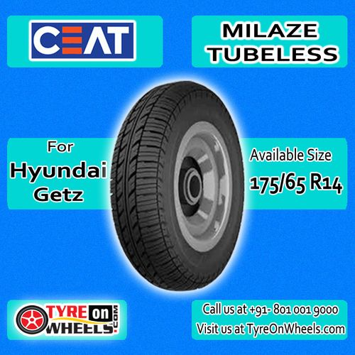 Buy Car Tyres Online of Ceat Milaze Tubeless Tyres for Hyundai Getz and get fitted with Mobile Tyre Fitting Vans at your doorstep at Guaranteed Low Prices buy now at http://www.tyreonwheels.com/tyres/Ceat/MILAZE-TUBELESS/325