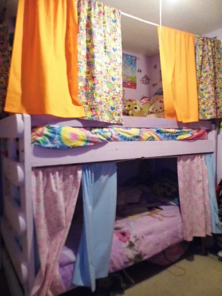 Bunk Bed Curtains For the girls bunk beds