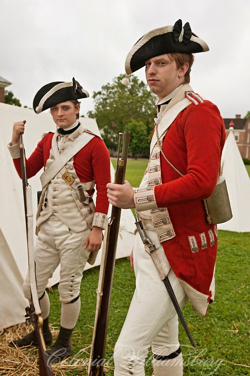 """Re-Enactment of the British Army's 1781 Occupation of Williamsburg.  Colonial Williamsburg's Historic Area, Williamsburg, Virginia.  """"Under the Redcoat."""" Photo by Barbara Temple Lombardi."""