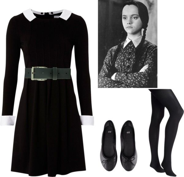 wednesday addams by sarahthesloth on polyvore - Halloween Costumes Wednesday Addams