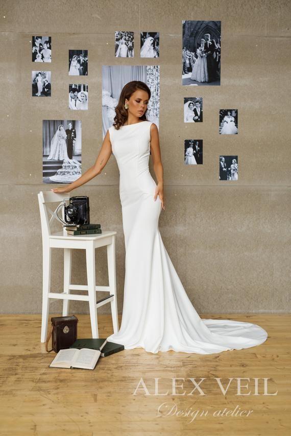 Hochzeitskleid 'SITELLE' // Wunderschönes elegantes Hochzeitskleid im Meerjungfrauenstil mit toller Passform