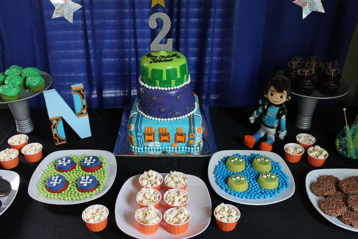 Miles from Tomorrowland birthday party! See more party ideas at CatchMyParty.com!