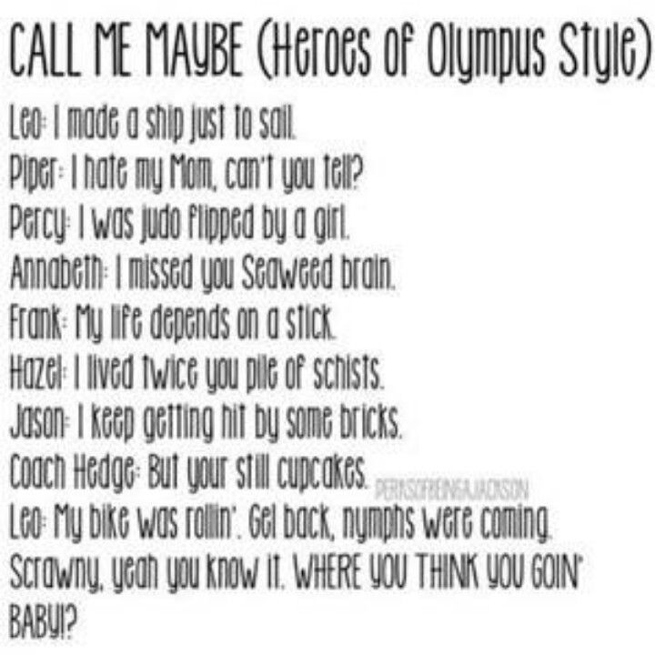 HEY I JUST MEANT YOU, I KNOW YOUR DEAD BUT CALL ME MAYBE.<<<<<DID YOU JUST. IS THAT FROM MCGA
