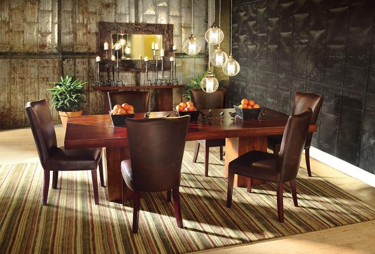 Fantastic WallsDining Rooms, Dining Room Furniture, Dining Room Tables, Room Ideas, Tao Large, Large Dining, Black Wall, Dining Tables, Arhaus Tao