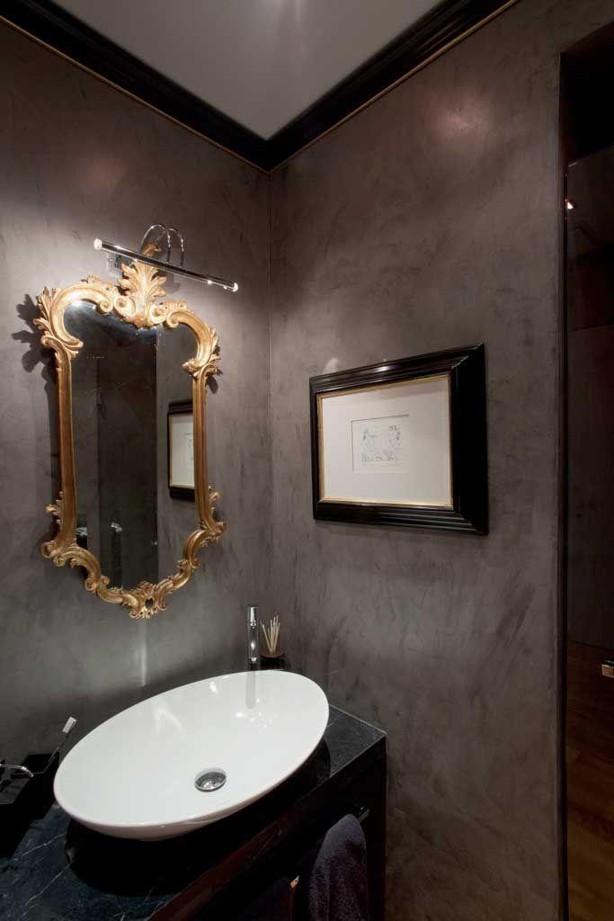 bagno resina parete microcemento