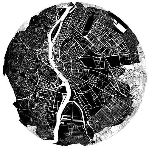 Budapest (bird's eye view / map)