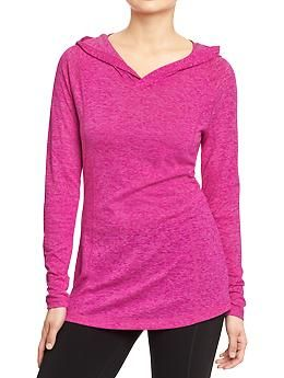Women's Active by Old Navy Hooded Burnout Tunics | Old Navy