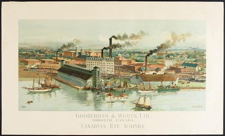 Gooderham and Worts Ltd., Toronto Canada, Canadian Rye Whiskey.