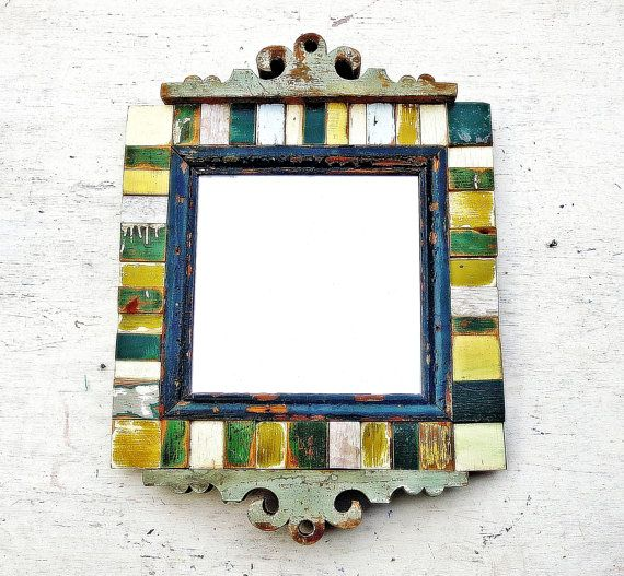 Reclaimed Wood MirrorMosaic Art Architectural Salvage by woodenaht