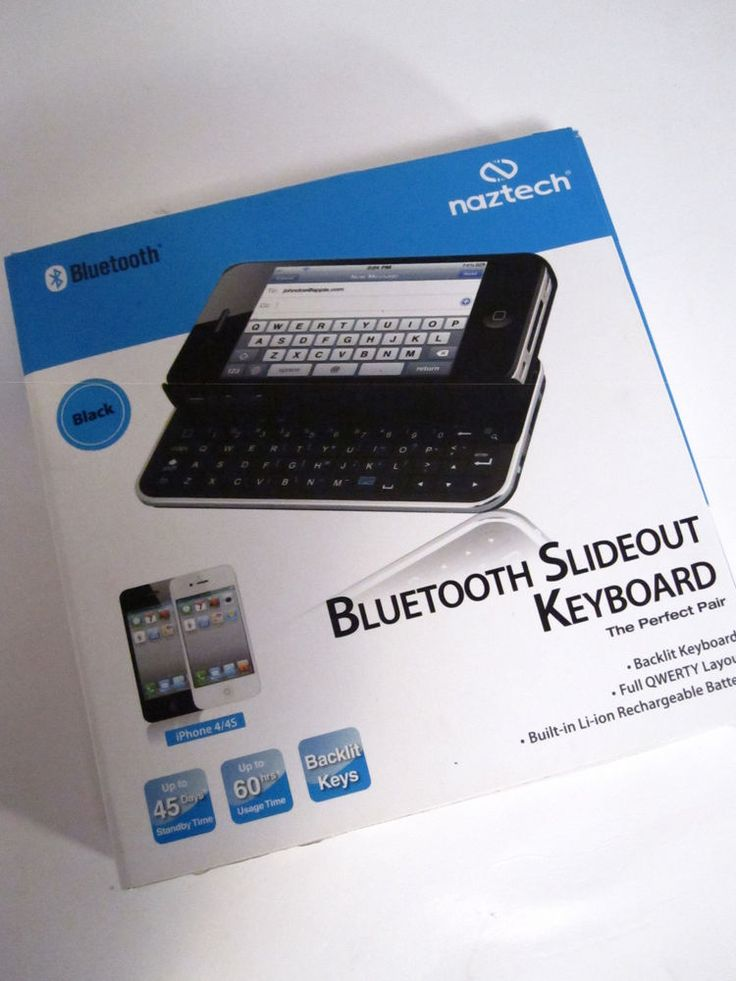 Naztech Bluetooth Slide Keyboard iPhone Case for iPhone 4 Tested No USB Cable | eBay