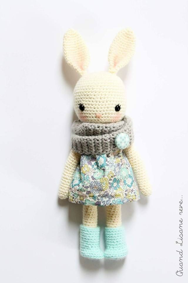 Sweet bunny by Lisane - pattern is by Isabelle Kessedjian in her book 'My…