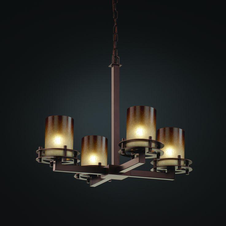 Mid chandeliers glass up · lighting showroomstudio