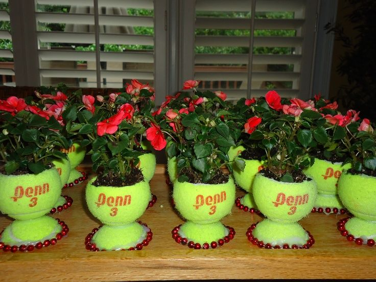 Image result for tennis ball can centerpiece