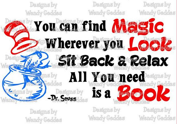 SVG Dr Seuss Inspired Quote ...All you need is a