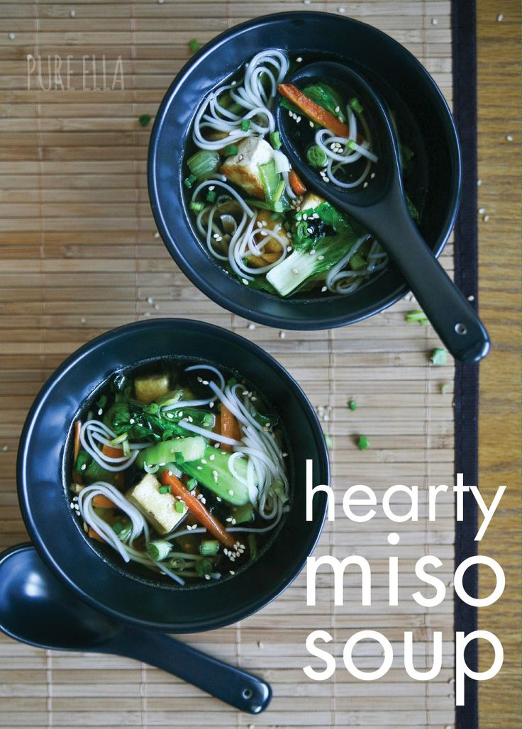 Hearty Miso Soup : naturally vegan and gluten-free #vegan #glutenfree | Pure Ella | www.pureella.com