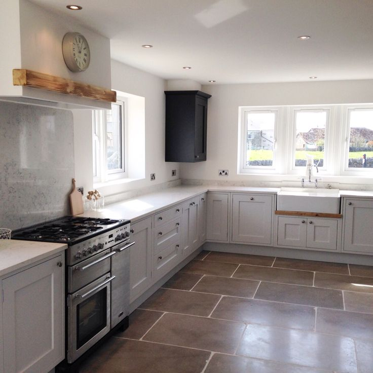 Painted In Frame Shaker Kitchen Which I Designed And Fitted. The Kitchen Was Made In Tulipwood