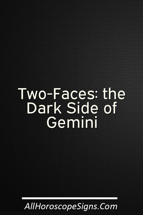 dark side of astrology gemini