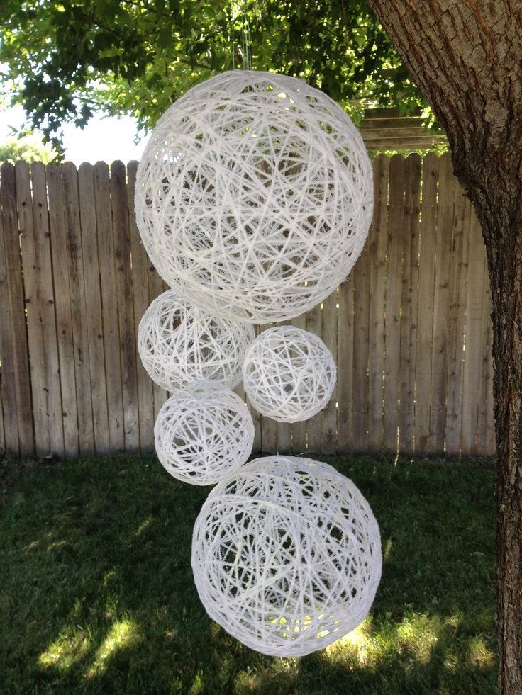 Wedding Decoration Hanging Spheres-Wedding Prop- Wedding Decor-Bohemian Chic Wedding Decoration. $55.00, via Etsy.