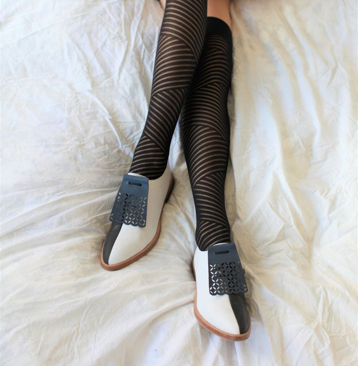 laser cut leather fringes shoe accessories