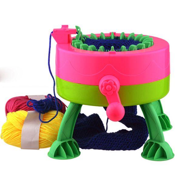 Criativa chapéu lenço diy rápida máquina de tricô ferramenta portátil tecelagem trabalhos manuais para filho adulto