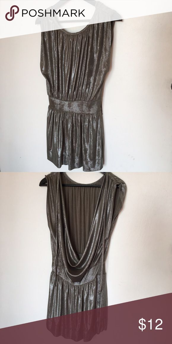 Silver Dress Silver Mini Dress with backless. Very sexy and rock! Love that dress. Polyester. Like New Topshop Dresses Mini