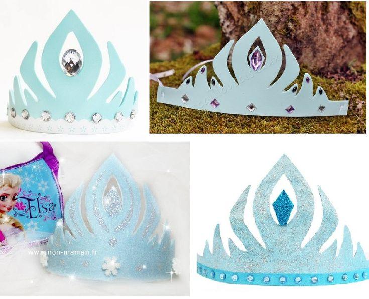 DIY : Couronne Reine des Neiges (Frozen) à imprimer et décorer