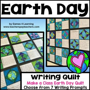 Earth Day Writing Prompts Quilt from Games 4 Learning. 7 printable Earth Day writing prompts to make a class Earth Day quilt display. These Earth Day writing prompts will also provide you with great topics to discuss in the lead up to Earth Day. Each of these Earth Day writing prompts comes in 2 different formats - 4 squares to a page or 2 squares to a page.