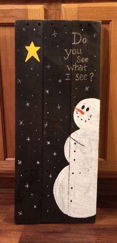 Christmas DIY: Snowman pallet sign Snowman pallet sign   DIY Christmas Ornaments…