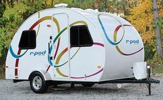 I'd like to have one of these for a mobile hotel room when we're older. So many places to see. This could be a fun way to do it. (R-Pod ultra lite travel trailer)