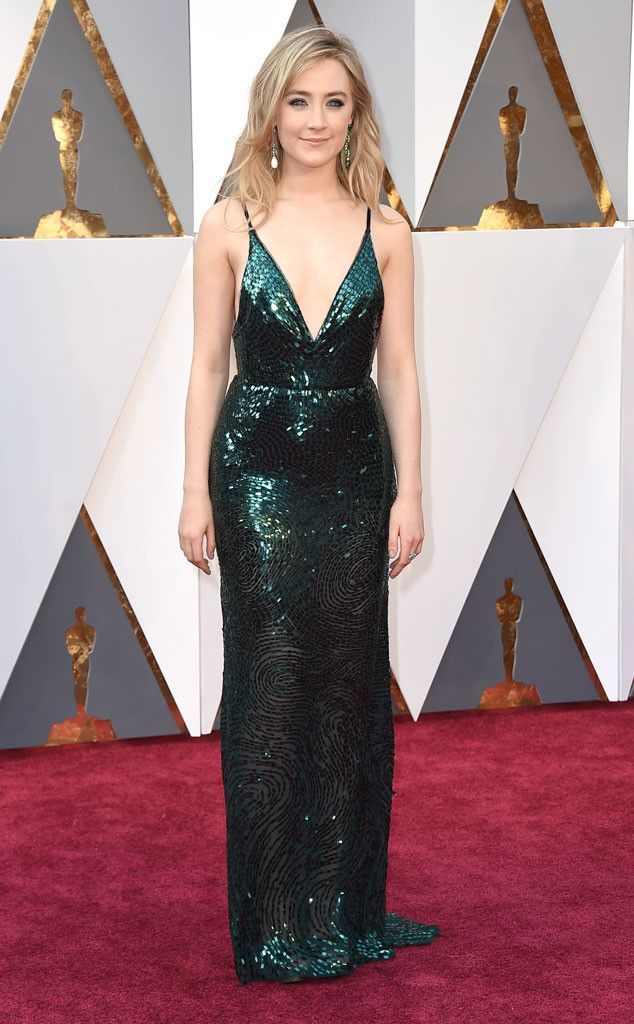 Saoirse Ronan from Oscars 2016: Red Carpet Arrivals  In Calvin Klein