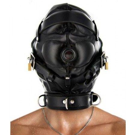 Cagoule de privation sensorielle entièrement en cuir. http://malins-plaisirs.com/5855-cagoule-de-privation-sensorielle-strict-leather.html