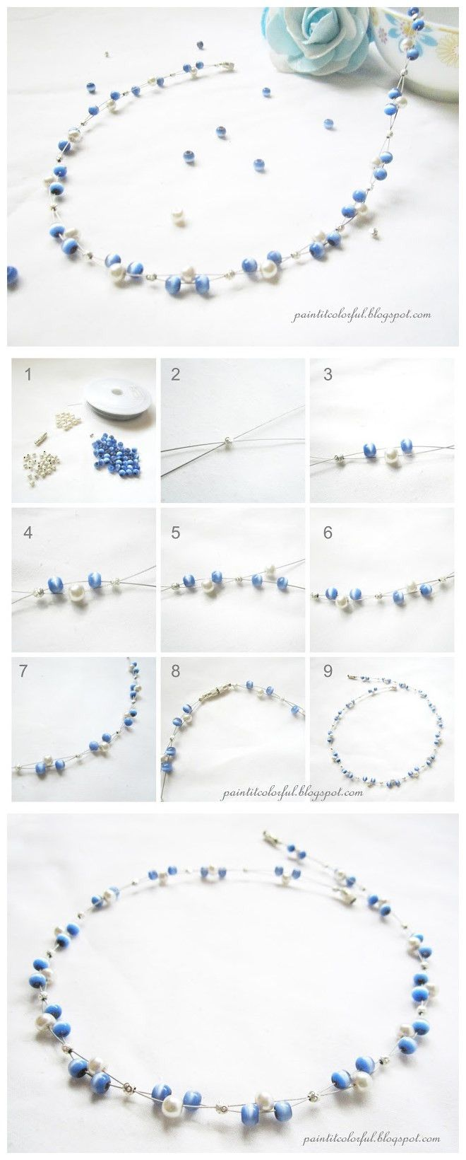Easy Handmade Elegant Beaded Necklace Designs #tutorial #beadingnecklace #handmadenecklace #pandahall