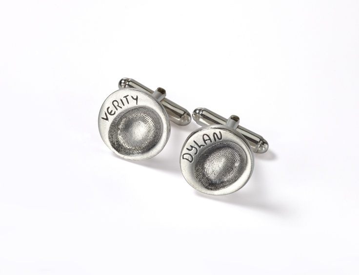 Cute button cufflinks for Dad this Father's Day. The perfect gift from www.smallprint.com