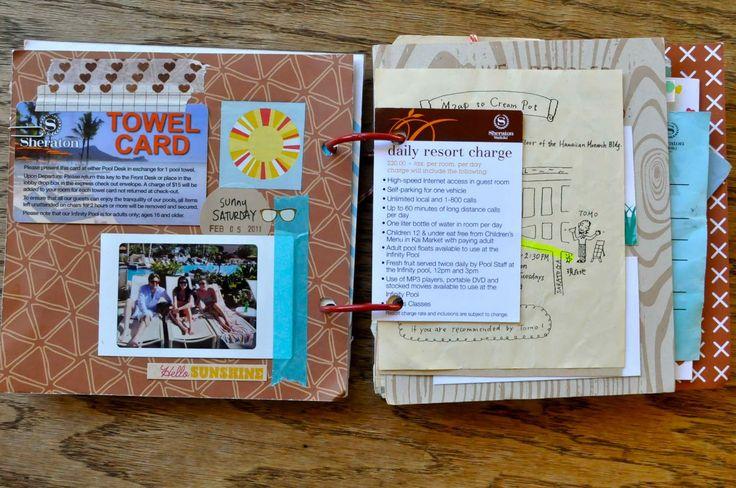 Álbumes de viaje de Scrapbooking   http://papelisimo.es/albumes-de-viaje-de-scrapbooking/