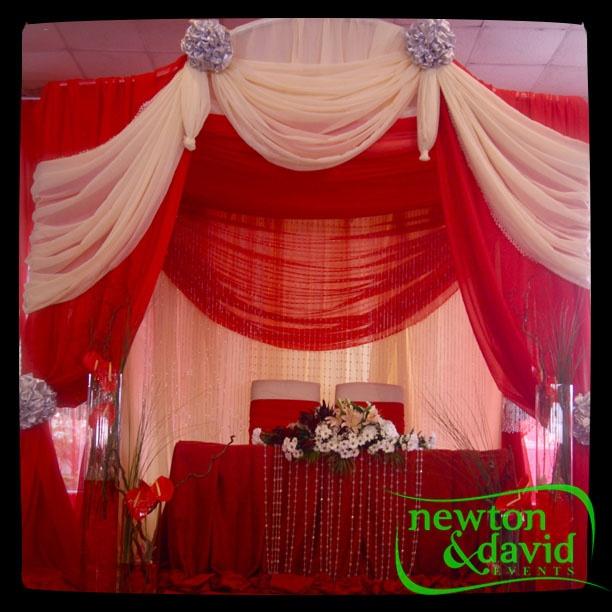 Bride & Groom area _ Red & White wedding
