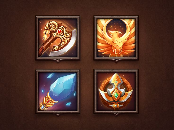 I'm working on the talent tree icons for a small RPG. I think Phoenix is the winner so far! What's your take on it?  P.S> Check out the sketches and full sized version in the attachment! Behance