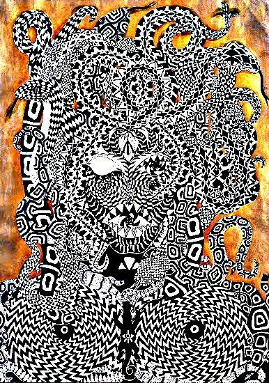 Gold Gorgona, Medúza Autorská grafika @johanahajkovaPages.