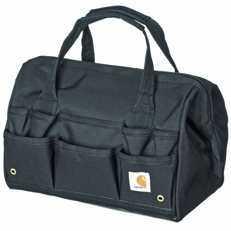 Carhartt Bags: 260105 01 Black Legacy 14-Inch Tool Bag #CarharttClothing #DickiesWorkwear #WolverineBoots #TimberlandProBoots #WolverineSteelToeBoots #SteelToeShoes #WorkBoots #CarharttJackets #WranglerJeans #CarhartBibOveralls #CarharttPants